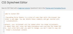 CSS Editor - Text Offset
