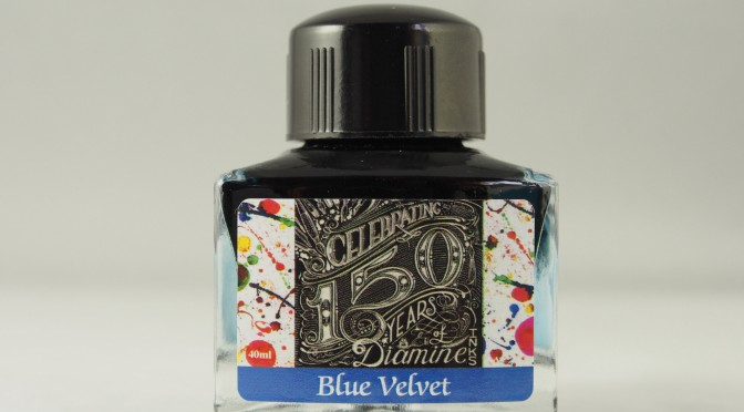 Diamine 150th Anniversary Blue Velvet Ink Review