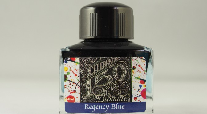 Diamine 150th Anniversary Regency Blue Ink Review